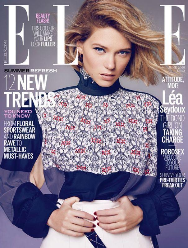 Леа Сейду в Elle Magazine