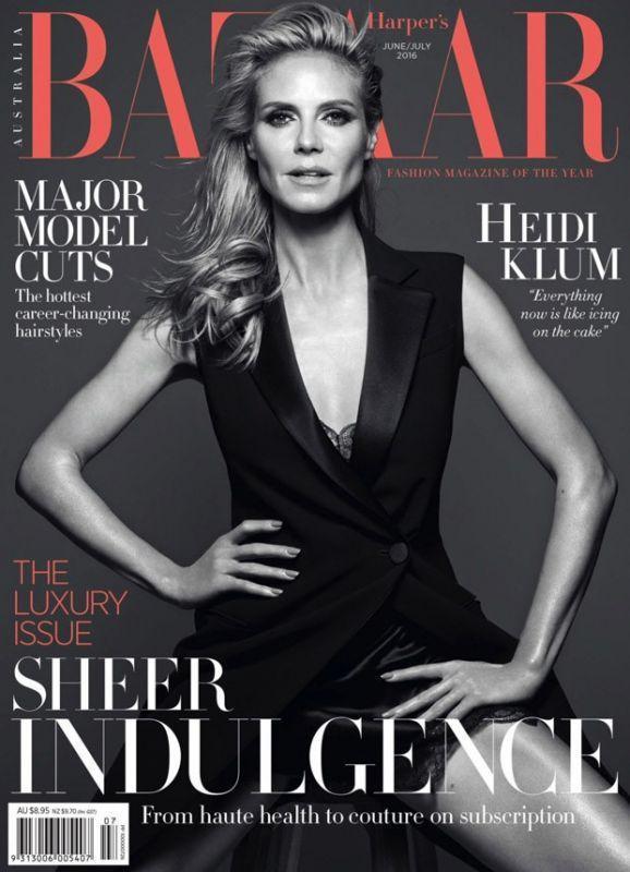 Хайди Клум в Harper's Bazaar Australia