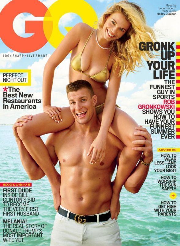 Хейли Клоусон и Роб Гронковски на обложке GQ Magazine
