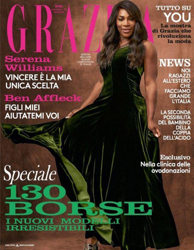 Серена Уильямс на обложке Grazia
