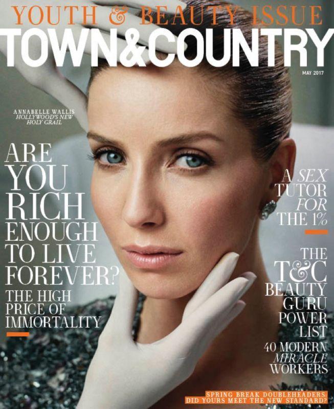 Аннабелль Уоллис на обложке Town & Country