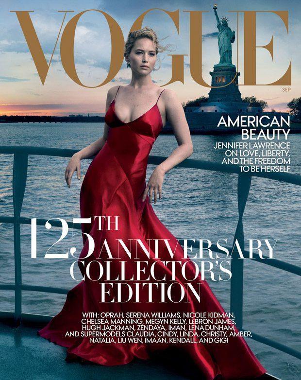 Дженнифер Лоуренс в юбилейном Vogue